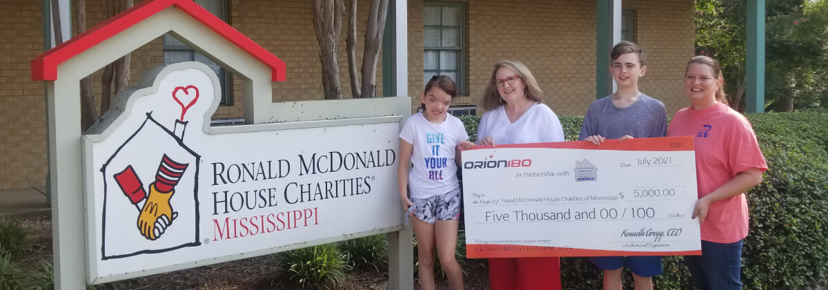 Ronald McDonald House Charities of Mississippi receives $5K donation